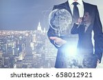 abstract image of businessman... | Shutterstock . vector #658012921