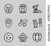 people icons set. set of 9... | Shutterstock .eps vector #658019941