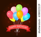 greeting card with a set of... | Shutterstock .eps vector #658022119