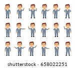 big set of businessman... | Shutterstock .eps vector #658022251