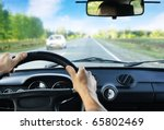 Driver\'s Hands On Steering...