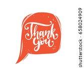 vector calligraphy of thank you ... | Shutterstock .eps vector #658024909