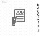 job search flat icon design | Shutterstock .eps vector #658027657