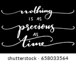 nothing is as precious as time... | Shutterstock .eps vector #658033564