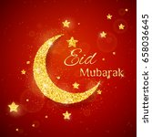 vector eid al firt background... | Shutterstock .eps vector #658036645