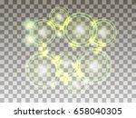 circles on a transparent...