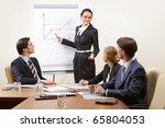 several smart business people... | Shutterstock . vector #65804053