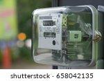 electric meter | Shutterstock . vector #658042135