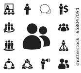 set of 12 editable business... | Shutterstock .eps vector #658047091