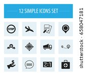 set of 12 editable complicated...