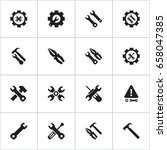 set of 16 editable tool icons.... | Shutterstock .eps vector #658047385