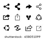 set of share icon | Shutterstock .eps vector #658051099