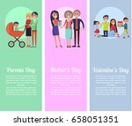 poster dedicated to parents' ... | Shutterstock .eps vector #658051351