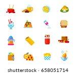 desserts icon set | Shutterstock .eps vector #658051714