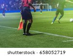 lineman assistant referee with... | Shutterstock . vector #658052719