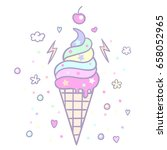 vector illustration of pop cute ... | Shutterstock .eps vector #658052965