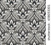 vector damask seamless pattern | Shutterstock .eps vector #658053301