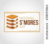 national s'mores day | Shutterstock .eps vector #658054861