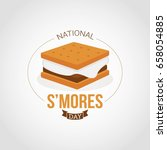 national s'mores day | Shutterstock .eps vector #658054885