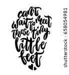 can not wait to meet tiny... | Shutterstock . vector #658054981