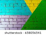 colorful brick wall | Shutterstock . vector #658056541