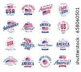 united states of america vector ... | Shutterstock .eps vector #658060501