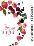 vector vertical fruit banner...   Shutterstock .eps vector #658060864