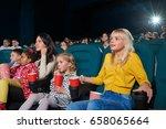 shot of children watching a... | Shutterstock . vector #658065664