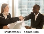making deal and shaking hands... | Shutterstock . vector #658067881
