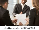 employers or recruiters review... | Shutterstock . vector #658067944