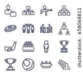 team icons set. set of 16 team... | Shutterstock .eps vector #658068811