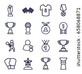champion icons set. set of 16... | Shutterstock .eps vector #658068871