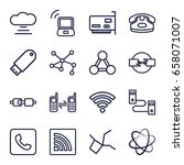 connect icons set. set of 16... | Shutterstock .eps vector #658071007