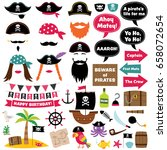 pirate vector party decoration... | Shutterstock .eps vector #658072654