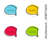 set hand drawn speech bubble.... | Shutterstock .eps vector #658073605