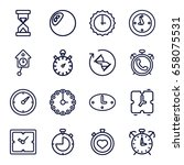 hour icons set. set of 16 hour... | Shutterstock .eps vector #658075531