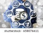 finance industrial business... | Shutterstock . vector #658076611