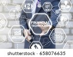 financial technology business... | Shutterstock . vector #658076635