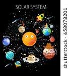 "vector poster ""solar system""...   Shutterstock .eps vector #658078201"