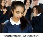 depressed outsider student... | Shutterstock . vector #658080514