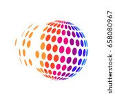 halftone in 3d global icon | Shutterstock .eps vector #658080967
