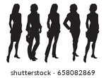 vector illustration of woman's... | Shutterstock .eps vector #658082869