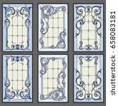 classic window   stained glass. ... | Shutterstock .eps vector #658083181