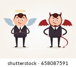 angel and devil businessman... | Shutterstock .eps vector #658087591