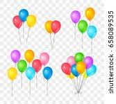 set of bunch of gel balloons on ... | Shutterstock .eps vector #658089535