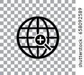 vector worldwide searching... | Shutterstock .eps vector #658092589