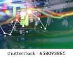 stock market background design   Shutterstock . vector #658093885