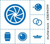 aperture icon. set of 6... | Shutterstock .eps vector #658094599