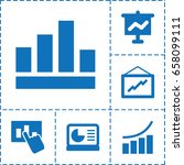 increase icon. set of 6... | Shutterstock .eps vector #658099111