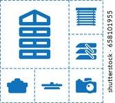 shutter icon. set of 6 shutter...   Shutterstock .eps vector #658101955